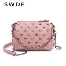 SWDF New Luxury Handbags Women Bags Designer Mini Messenger Bags PU Leather Shoulder Bag Lady Crossbody Clear Purse Tote Bag Sac недорого