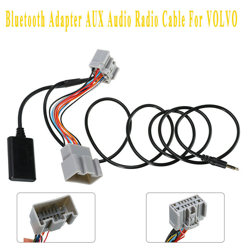 14Pin Bluetooth Adapter Audio AUX Cable For <font><b>Volvo</b></font> C 30 / S40 / V40 / V50 / S60 / S70 / C70 / V70 / XC70 / S80 / <font><b>XC</b></font> <font><b>90</b></font> Adapter image