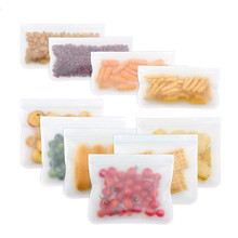 Lunch-Box Ziplock Clear Silicone Freezer-Bag Kitchen-Organizer Reusable Leakproof Top-Fruits