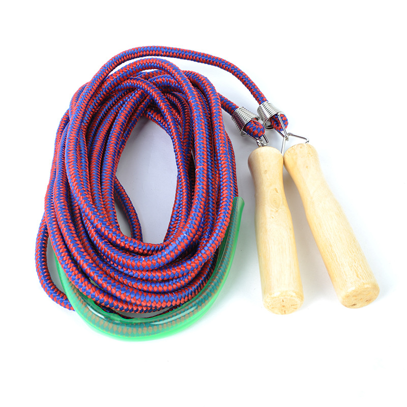 Adult Wooden Handle Cotton Binder Jump Rope Primary School STUDENT'S Outdoor Sports Men And Women Fitness Children Jump Rope Ful
