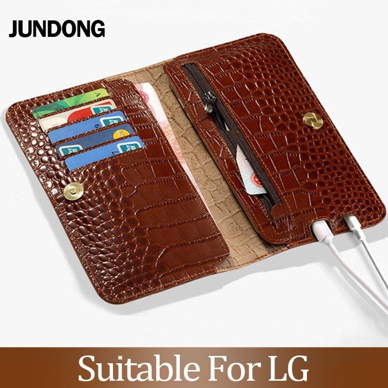 For LG V30 V40 V50 ThinQ G6 G7 Q6 Q7 K11 K4 K8 K10 2018 Srylor 3 4 Case Crocodile Texture Cover Cowhide Phone Bag Wallet