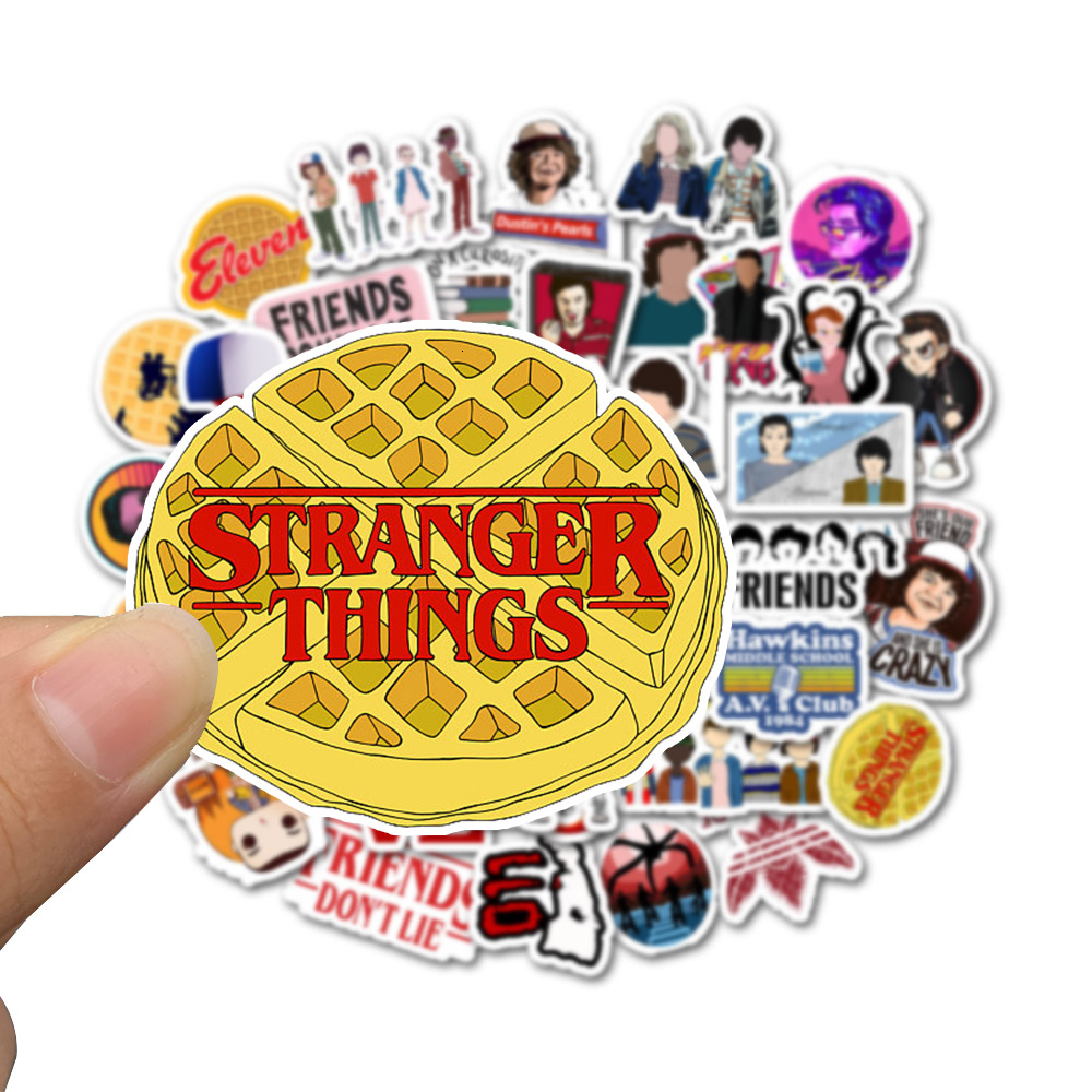 50pcs Stranger Things Vsco Stickers On Laptop Waterproof Skateboard Pegatinas Suitcase Graffiti Stikers Kids Classic Toy