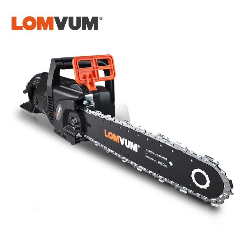 LOMVUM 6980W Electric Chain Saw Powerful AC 220V Electric Chainsaw Garden Power Tools Homehold Wood Cutter 4 Blades