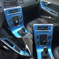 Car Styling 3D 5D Carbon Fiber Car Interior Center Console Color Change Molding Sticker Decals For Volvo V60 S60 2011 2018