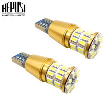 2X Canbus LED T10 W5W Clearance Parking LED Car Light For passat b5 b6 jetta6 golf 4 7 polo sedan 6r scirocco gti2 caddy mk2 4 2x w164 t10 w5w led 4014smd wedge light sidelight no error for volkswagen polo passat b5 b6 cc golf 4 5 6 7 mk6 tiguan