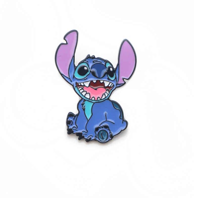 K340 Alien Cartoon Nette Metall Emaille Pin für Rucksack/Tasche/Jeans Kleidung Abzeichen Revers Pin Brosche Schmuck 1 stücke