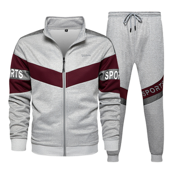 New Spring Mens Clothing Men Hoodie Sets Printing Suit Set Fleece Zipper Sweatshirt Casual Sport Sweatpants Mens Tracksuits 2021 2