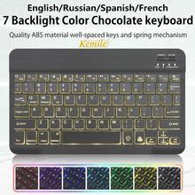 Teclado ultradelgado con Bluetooth para tableta, portátil, teléfono inteligente, Windows, iPad, compatible con Sistema IOS y Android