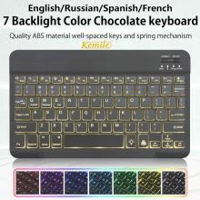 Bluetooth Keyboard Tablet Laptop Support Smartphone Windows Android-System Spanish Russian