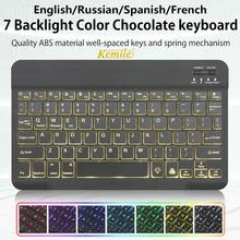 Ultra Slim Arabic Russian Spanish Bluetooth Keyboard For Tablet Laptop Smartphone Windows For iPad Support IOS Android System