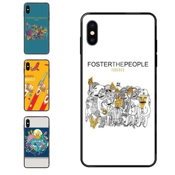 Black Soft TPU Screen Protector For Samsung Galaxy S5 S6 S7 S8 S9 S10 S10e S20 edge Lite Plus Ultra Pop Band Foster The People image