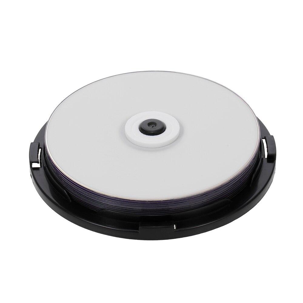 Disco personalizável de dvd, disco em branco de 215 min 8x dvd + r dl 8.5 gb com 10 peças e disco para dados e vídeos