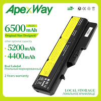 Apexway 6 célula de Bateria Para Lenovo G460 G560 G465 E47G L09L6Y02 L09S6Y02 L10P6F21 LO9S6Y02 b570e V360A Z370 K47A Z560