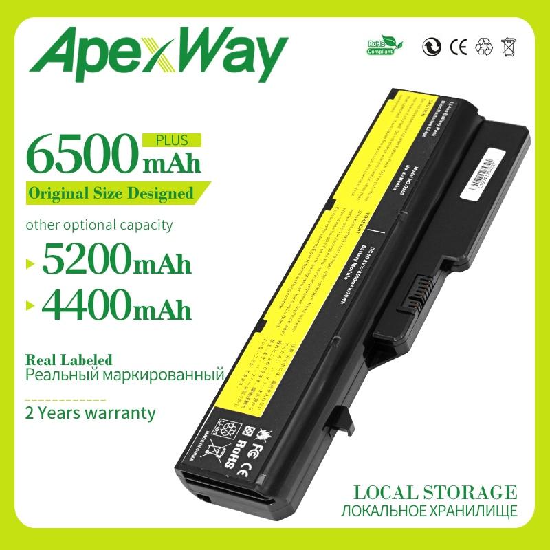 Apexway 6 Cell Battery For Lenovo G460 G560 G465 E47G L09L6Y02 L09S6Y02 L10P6F21 LO9S6Y02 B570e V360A Z370 K47A Z560