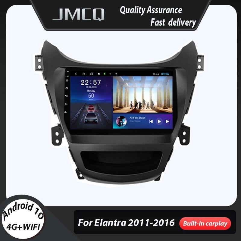 Автомобильный радиоприемник JMCQ Android 10 для Hyundai Elantra Avante I35 2011-2016 мультимедийный плеер 2 din GPS Навигация dvd стерео головное устройство