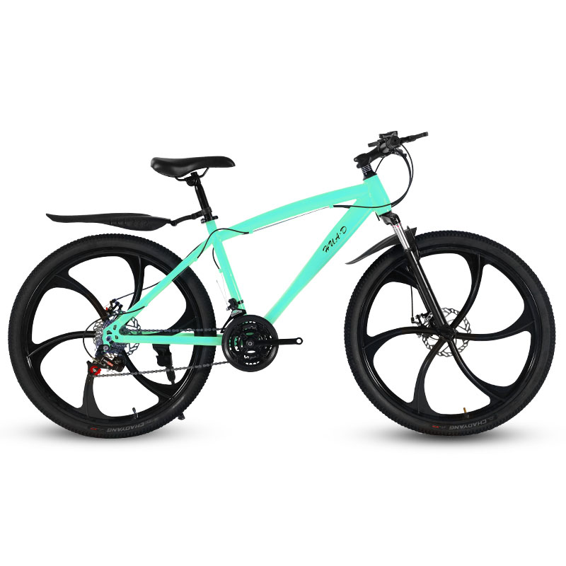 26-Inch Mountain Bicycle Speed Change Double Disc Brake Six-blade Wheel Student Adult Shock Absorption Cross-Country Bike