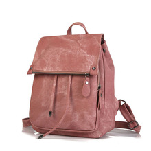 Women Casual Backpack PU Leather School Backpack For Teenager Girls Travel Backpack Travel Solid Shoulder Bags цена 2017