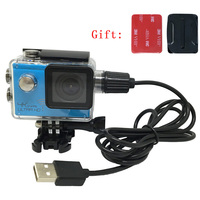 Universele Waterdichte Case Shell Charger Usb-kabel Voor Sjcam SJ4000 Wifi SJ6000 Soocoo C30 Eken H9 H9R Action Camera Motocycle