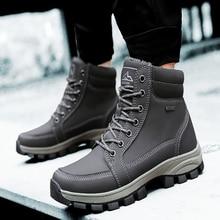 Мужская обувь 2020 модные зимние меховые ботильоны уличная сохраняющая