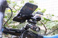 Bicicleta teléfono móvil navegación con cronómetro para silla soporte motocicleta eléctrica teléfono móvil soporte cronómetro Base Extensión Rack|  -