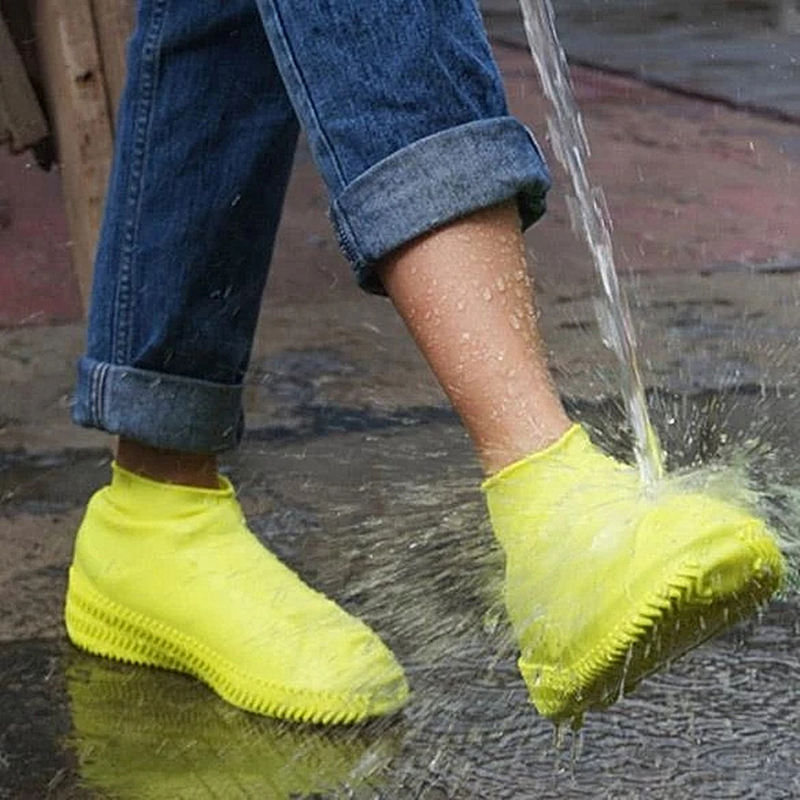 Women Men Rain Boots Waterproof Shoe Cover Silicone Material Unisex Shoes Protectors Rain Boots for Indoor Outdoor Rainy Days