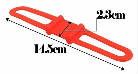 Correas para bicicleta de silicona de alta resistencia, soporte Flexible para teléfono móvil, luces para bicicleta, linterna, portabotellas