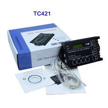 Atacado tc420/tc421 rgb led controlador tempo programável dc12v/24 v 5 canal saída total 20a ânodo comum programável