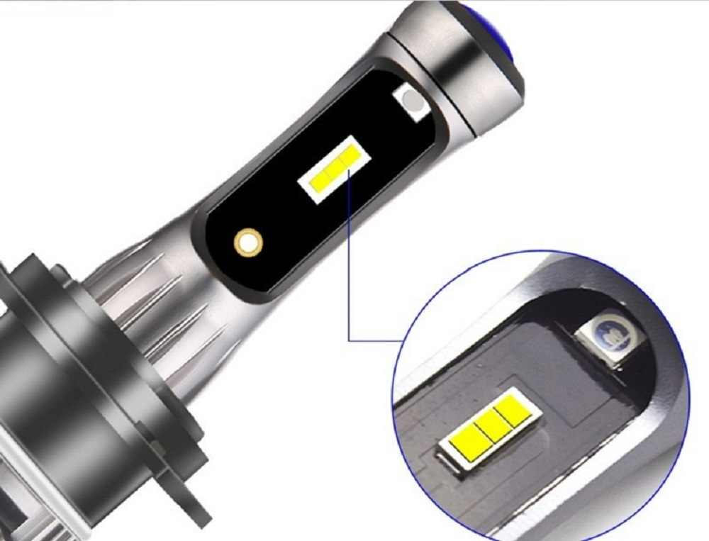1 шт Автомобильные светодиодные фары дальнего и ближнего света Противотуманные фары H1 H3 H4 H7 H8 H11 9005 9006 9012