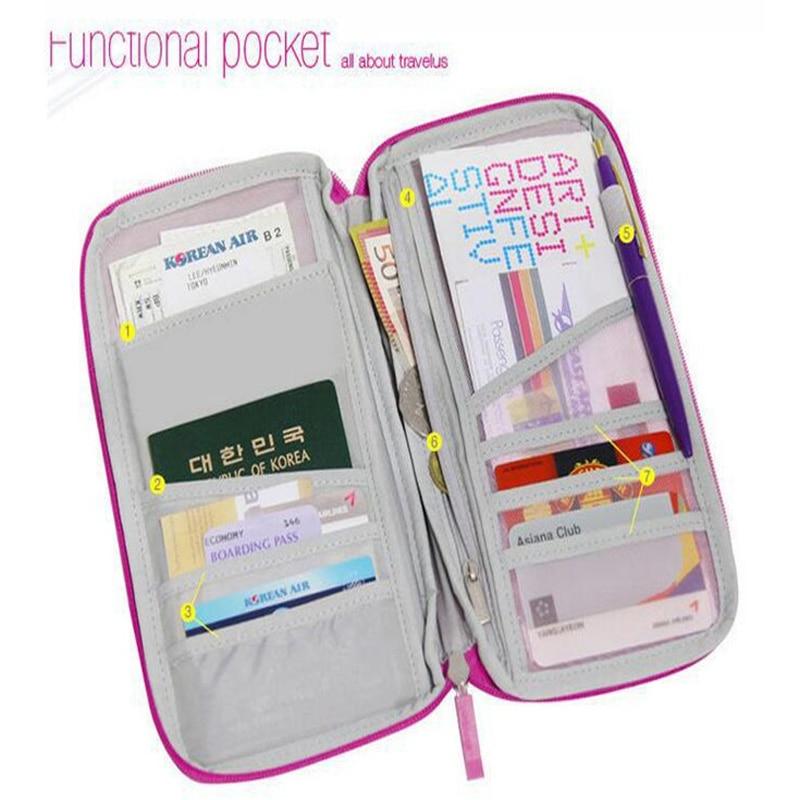 Korean Long Purse Women Mens Wallet Travel Organizer Bag With Strap Passport Card Holder Case Wallet Multiple Pockets Purse