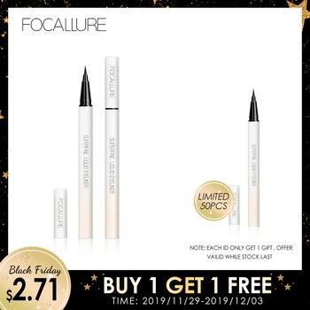 FOCALLURE black liquid eyeliner pencil waterproof 24 hours long lasting eye makeup smooth easy to wear Eye liner pen