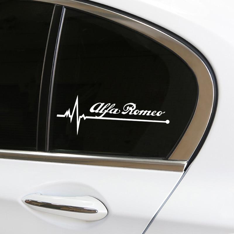 1pcs Auto Car Window Glass Decor Stickers Reflective Decals Car-Styling For Alfa Romeo 159 147 156 Giulietta 147 159 Mito