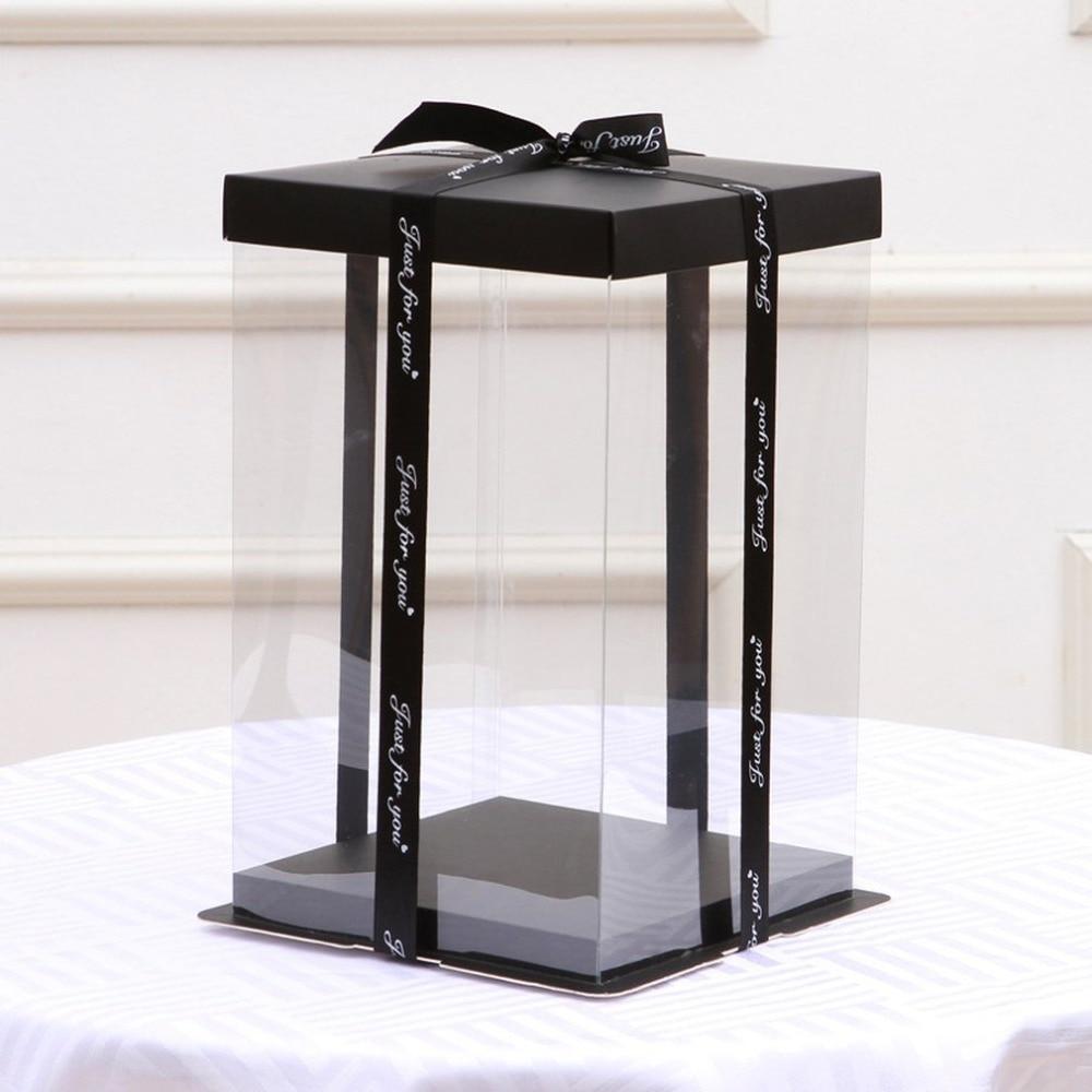 Transparent Empty Gift Box For Artificial Teddy Bear Rose Flower Gifts Box Women Plush Bear Rabbit Gift