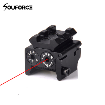 Hot High Quality Adjustable Red Laser Sight with 20mm Rail Mount Fit for Glock 17 19 Pistol Guns Glock Hunting Accessory