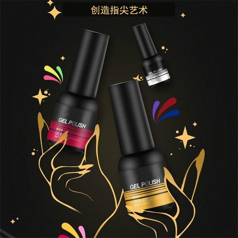 Top Base Coat 2PCS/Set UV Gel Nail Polish Shiny Manicure Set 8ml Soak off Top Base Nail Primer