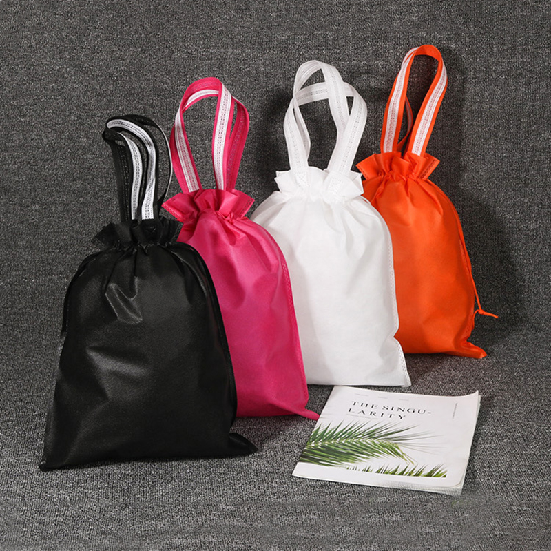Women Non-woven Travel Pouch Storage Organizer Portable Drawstring Clothes Handbag Makeup Pouch Girls Shoes Toiletries Bags