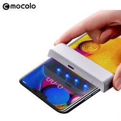 Do LG V40 ThinQ ochraniacz ekranu Mocolo pełny płyn klejony zakrzywione szkło hartowane UV do LG V30 ochraniacz ekranu