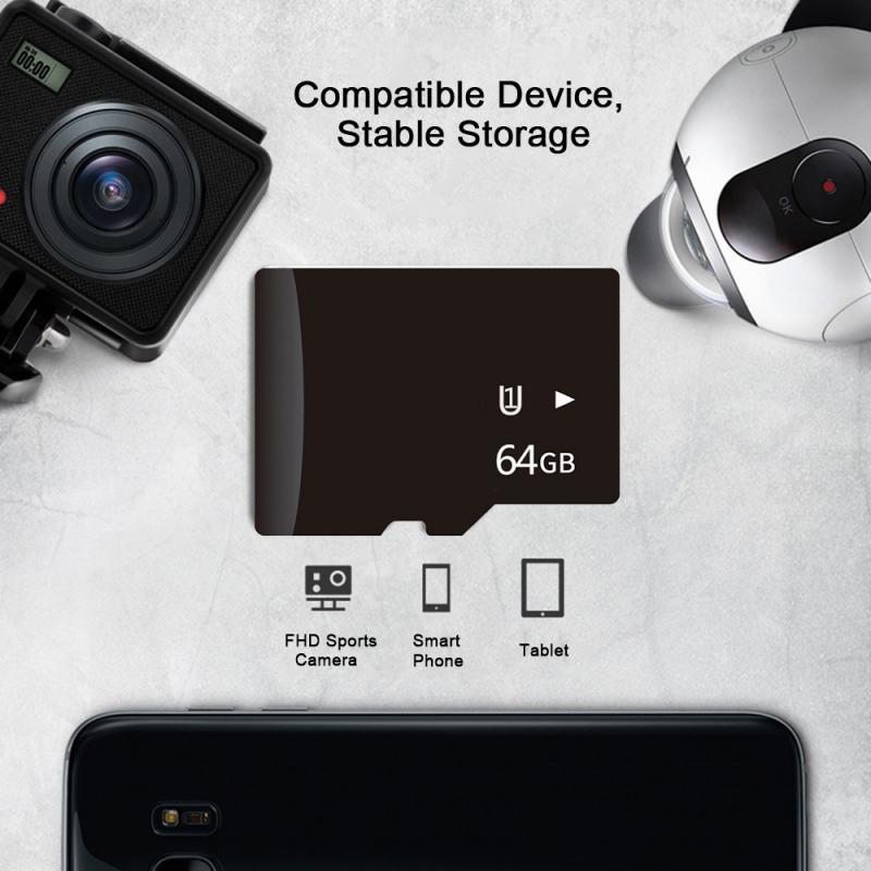 Memory-Card Camera-Accessories Flash Phone TF Micro 32GB 64GB 128GB Class U3 10-U1 16GB