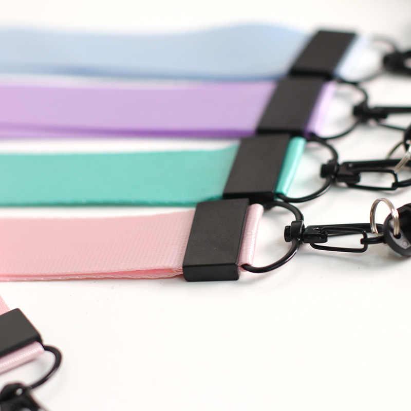 Warna Lucu Musim Panas DIY Pita Band Gantungan Kunci untuk Wanita Tas Mobil Gantungan Kunci Pesona Pendek dan Panjang Pita Ponsel Case Dompet perhiasan