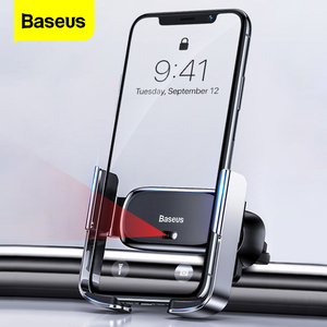 Image 1 - Baseus מיני אינטליגנטי אינפרא אדום מכונית טלפון בעל רכב מחזיק עבור טלפון במכונית נייד Stand עבור iPhone 11 Pro מקסימום