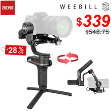 Zhiyun weebill s 3 axis sem fio imagem transm handheld câmera cardan estabilizador para sony canon mirrorless câmera oled display