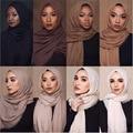 2020 cotton Scarf Crinkle Women Solid muslim Hijabs Muffler Shawls Pashmina Wrap Hijab Scarves Headscarf shawls wrap headband Women's Scarves     -