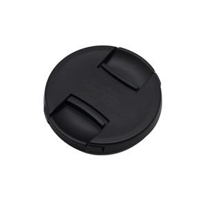 Image 1 - 30pcs/lot High quality 49 52 55 58 62 67 72 77 82mm center pinch Snap on cap cover for canon camera Lens