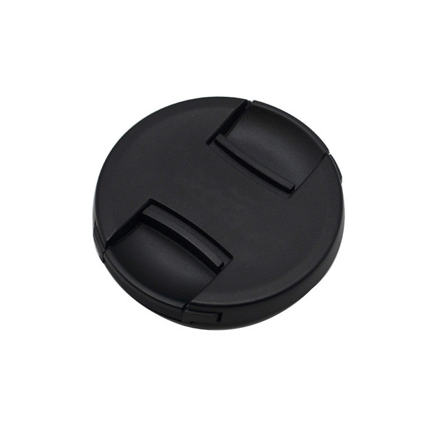 30pcs/lot High quality 49 52 55 58 62 67 72 77 82mm center pinch Snap on cap cover for canon camera Lens