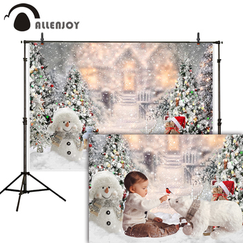 Allenjoy christmas backdrop snowflake new year family party decoration glitter lights winter photo studio background photophone