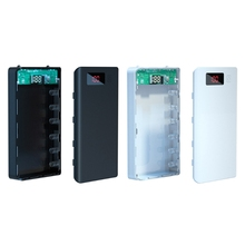 A6 LCD Display DIY 6x18650 Battery Case Power Bank Shell Portable External Box Without Battery Powerbank Protector
