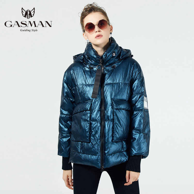 GASMAN 2019 New Winter Collection Women's Thick Coat Fashion Women Warm Jacket Down Short Hight Quality Female Winter Clothes
