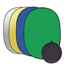 100x15 0cm/150x200cm fotografia pano de fundo chromakey verde azul tela portátil dobrável reversível photo studio fundo