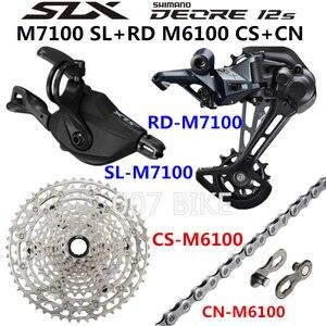Image 3 - Shimano Deore Xt Slx M8100 M7100 M6100 Groepset Mtb Mountainbike 1x12 Speed 10 51T M7100 M8100 Shifter Achter derailleur