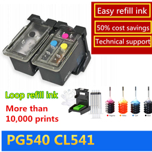 New Refillable Ink Cartridge 540XL Color 541XL Black for Canon PG540 XL CL 541 Pixma MG4250 MX375 MX395 MX435 MX455