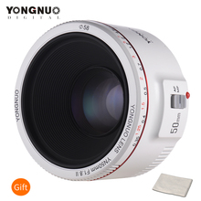 YONGNUO YN50mm F1.8 II Standard Prime Lens Large Aperture Auto Focus 0.35 Closest Focal Length for Canon EOS 5DII 5DIII 5DS 5DSR